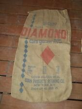 Vintage Diamond Gluten Meal Corn Products Refining New York NY Feed burlap sack