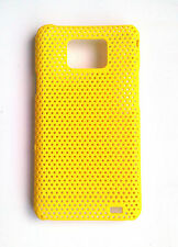 Yellow Mesh Hard Case Cover for SAMSUNG i9100 Galaxy S 2
