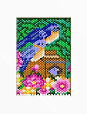 Bluebird Family Pony Bead Banner Pattern
