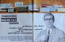 PUBLICITÉ TRANSISTORS DUCRETET THOMSON À L'HEURE DU CHOIX