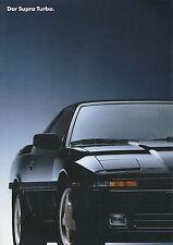 Toyota Supra Turbo Prospekt 1991 9/91 brochure Autoprospekt Broschüre prospectus
