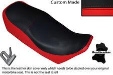 BLACK & B RED CUSTOM FITS YAMAHA XJ 750 SECA 81-83 LEATHER DUAL SHORT SEAT COVER