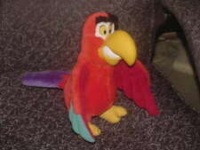 "12"" Disney LAGO Parrot Plush Toy With Rubber Beak From Aladdin Extremely Rare"