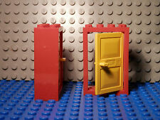 Lego Legos Set of Two NEW RED Frame 2x4x5 with YELLOW Door