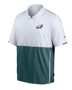 Philadelphia Eagles Jacket Mens Authentic Nike Football Sideline Half Zip Green