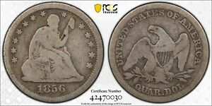 1856 seated quarter PCGS G 06 Gold Shield LOW POP 2:495