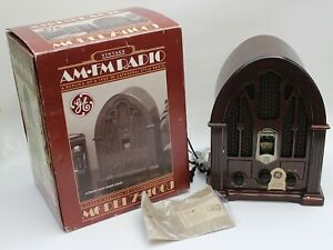 Vintage GE 7-4100JA Cathedral 1932 Replica AM FM Radio NEW in open Box Tested