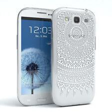 Hülle für Samsung Galaxy S3 / Neo Schutz Cover Handy Case Motiv Soft TPU Weiß