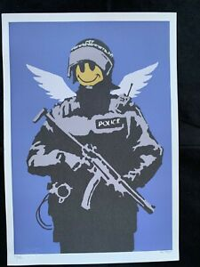 BANKSY - Litho signed and numbered on paper - FLYING COPPER