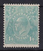 G410) Australia 1932 1/4d Turquoise KGV C of A wmk ACSC 131A, centred slightly