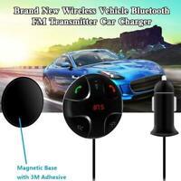 1xWireless Handsfree Bluetooth MP3 FM Transmitter 2 Car USB Adapter Charger P1P4