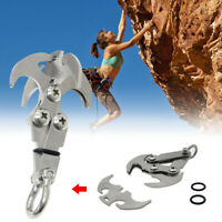 High Quality 304 Stainless Steel Hook Outdoor Climbing Folding Grabber Tool New
