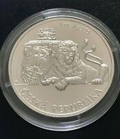 2018 Niue 1 Oz Silver Czech Lion $2 Coin - .999 Fine Silver - BU - in Capsule