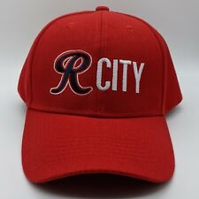 Tacoma Rainiers MiLB R CITY Embroidered Logo Hat Strapback Dad Cap Red NEW