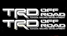 WHITE TOYOTA RACING TRD TRUCK OFF ROAD 4x4 TUNDRA TACOMA DECAL SUV STICKER VINYL