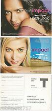 LOT 2 CPM postcard pub Lentilles de couleur yeux eye impact FRESHLOOK [996 R]