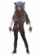 Werewolf Girl Wolf Horror Creature Monster Halloween Dress Up Girls Costume