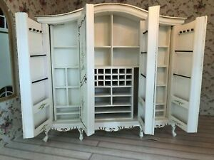 DOLLS HOUSE 12TH SCALE JIAYI LARGE WARDROBE ONLY USED ON DISPLAY