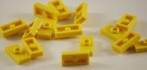 20x Lego® mod. Platten Bausteine Plates Pieces Parts No 3794 1x2 gelb yellow Neu