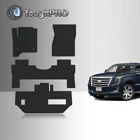 ToughPRO Floor Mats + 3rd Row Black For Cadillac Escalade ESV Bench 2015-2020