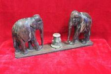 Wooden Incense Stick Elephant Panel Old Vintage Antique Figure Home Decor PM-58