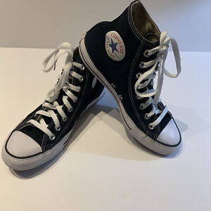 Converse All Star Chuck Taylor High Top Men's 7 Women's 9 Black White