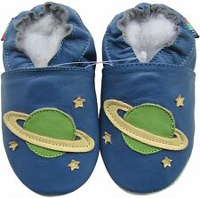 soft sole leather baby shoes planet blue 12-18m S