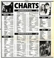 26/10/91 Pgn60 The Nme Charts On26/10/91 The Uk Top Fifty Singles And Albums