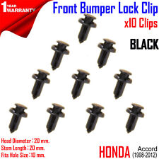 1998-2012 Honda Accord Front bumper moulding fastener lock clip 10x