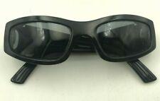 Vintage Bolle Dirty8 10253 Spank Black Oval Sunglasses Japan FRAMES ONLY
