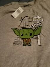 Star Wars Yoda this tall to ride Funko S size kids graphic t-shirt new with tag