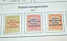 Marokko, auch Spanische Post: Urige Altsammlung auf Vordrucken