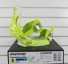 New 2012 Burton Stiletto EST Womens Snowboard Bindings Size Small Lime Drop