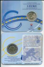 COINCARD 2 EURO SLOVACCHIA 2009 10° ANNIVERSARIO EMU UEM