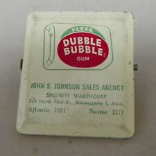 Vintage Double Bubble Desk Clip Advertising Desk Clip  Holder John Johnson Minn.