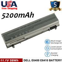 5200mAh Battery For Dell Latitude E6400 E6410 E6500 E6510 PT434 Laptop CL