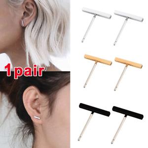 Stud Earrings Stick Dainty Surgical Steel Silver New Thin Minimalist Bar Line