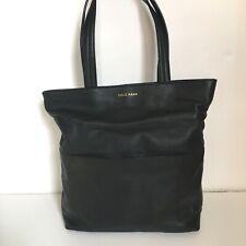 Cole Haan Black Leather Tote Bag Large Shoulder Purse