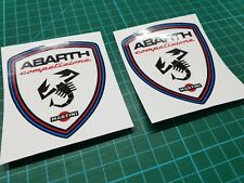 Fiat 500 / 595 / 695 Abarth competizione wing Decals / Stickers 80mm tall Punto