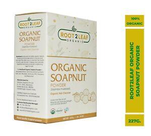 Root2Leaf Organic Aritha Reetha Soapnut Powder For Hair and Skin Care -227 gram