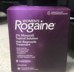 Women's Rogaine 2% Minoxidil Topical Hair Regrowth 3 Month Supply Exp 2025