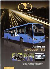 Autosan Eurolider 13LE Intercity Bus 2011-12 UK Market Single Sheet Brochure