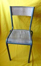 Chaise Bureau Écolier Vintage Usine Déco Loft Industriel Ancienne Métal Bois