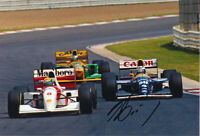 Alain Prost Signed 8X12 Inches F1 Williams Renault Photo with Senna & Schumacher