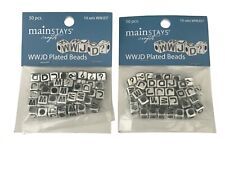 WWJD? Plated Beads - 2 Packages