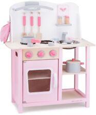 New Classic Toys 11054 - Küche mit Zubehör Spielküche aus Holz PINK