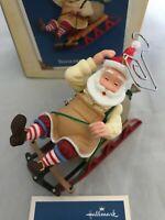 Hallmark Keepsake Toymaker Santa 2005 Sledding Collectors Series Ornament