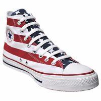 CONVERSE ALL STAR CHUCKS SCHUHE EU 39 UK 6 USA FLAG PUNK STARS & STRIPES ROT