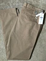 """LACOSTE MEN'S BEIGE BROWN SLIM FIT CHINOS TROUSERS PANTS HH9553 - 36"""" - NEW TAGS"""