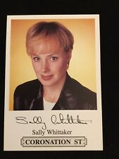 Sally Whittaker Signed Coronation Street Card
